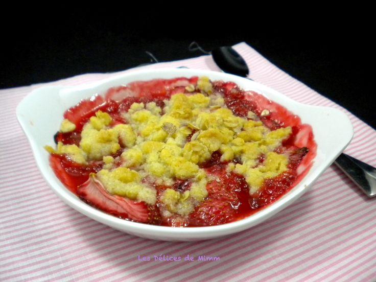 Crumble aux fraises tout simplement