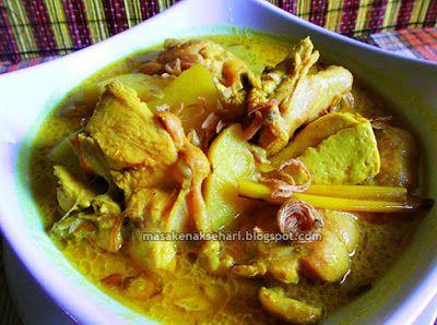 Resep Opor Ayam Bumbu Kuning | Resep Masakan Indonesia - masakenaksehari.blogspot.com