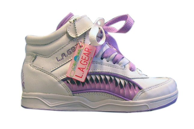 ...  LA GEAR made it's debut in 1979, it wasn't until the late 80s when it became one of the most popular sports shoes on the market. Description from imisstheoldschool.com. I searched for this on bing.com/images