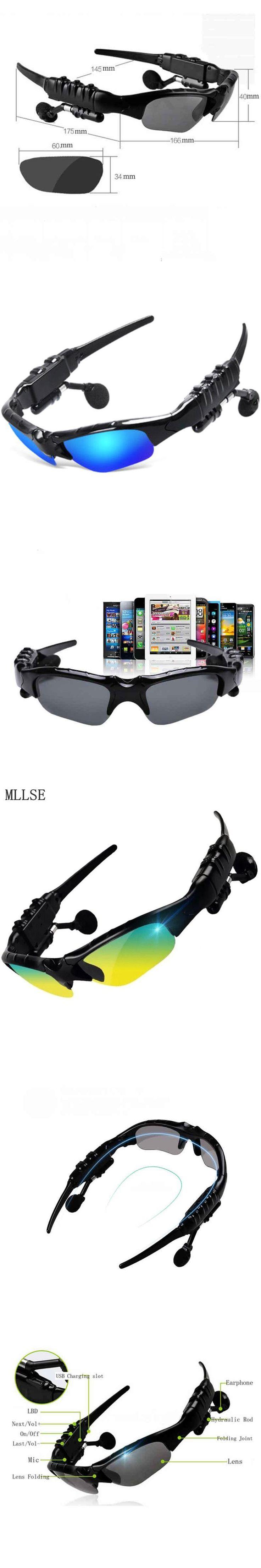 MLLSE Wireless Sunglasses Headphone Bluetooth Headphones Stereo Bluetooth Headset Wireless Earphone for Iphone Samsung Xiaomi