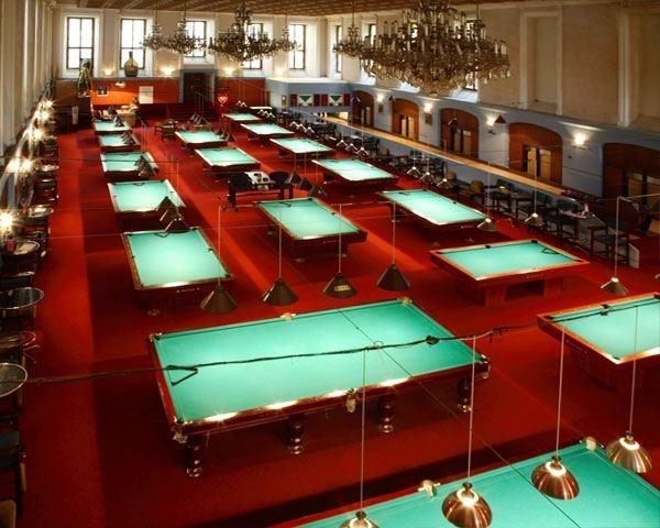 Billiard Centrum Prague Amazing Old Ballroom With