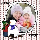 Kerstkaart: sneeuwman_maken