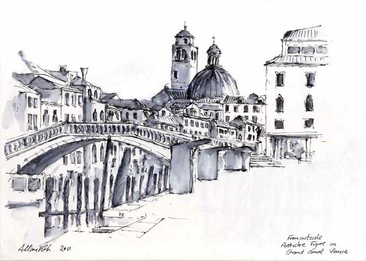 Watercolour with Allan Kirk at Tarnincolour: Sketches from Venice