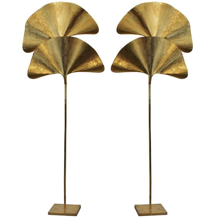 Pair of Tomasso Barbi Brass Floor Lamps | From a unique collection of antique and modern floor lamps  at https://www.1stdibs.com/furniture/lighting/floor-lamps/