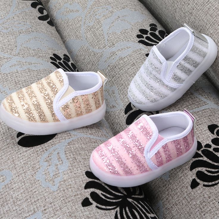 2016 New Baby Boys Gilrs Sneakers with Light Little Kids Sport Shoes Toddler Shoes Autumn Children Mesh Striped Shoes #Affiliate