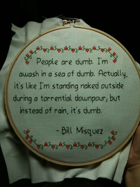 cross stitch saying