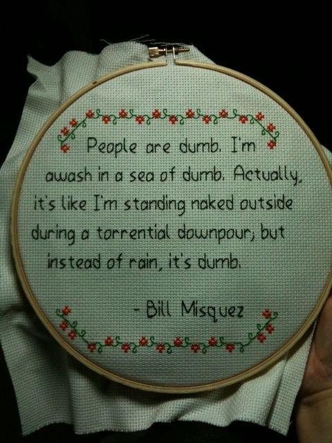 cross stitch saying