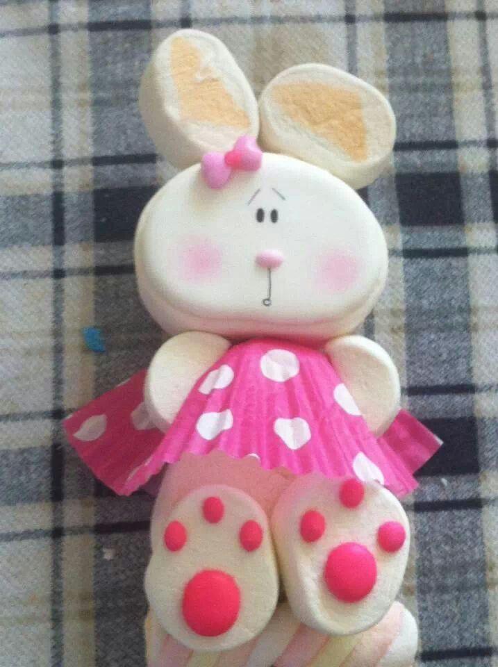 cute bunny marshmallow pop