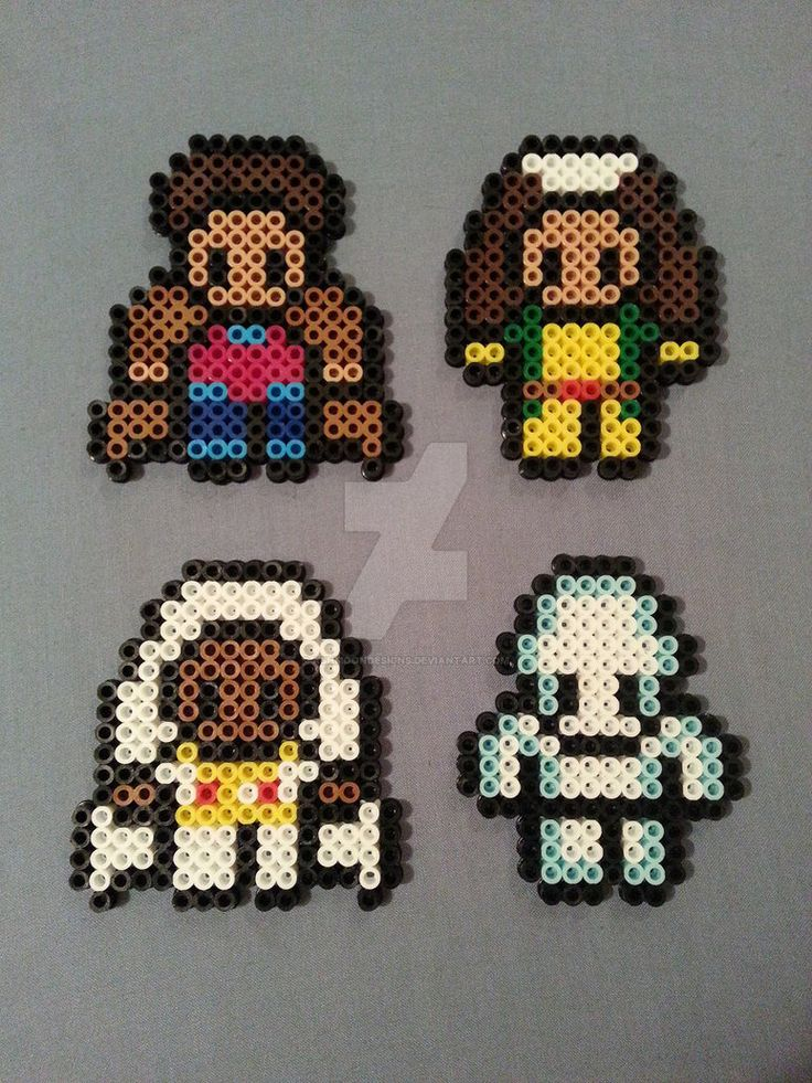 X-Men Perler Bead Figures 2/3 by AshMoonDesigns
