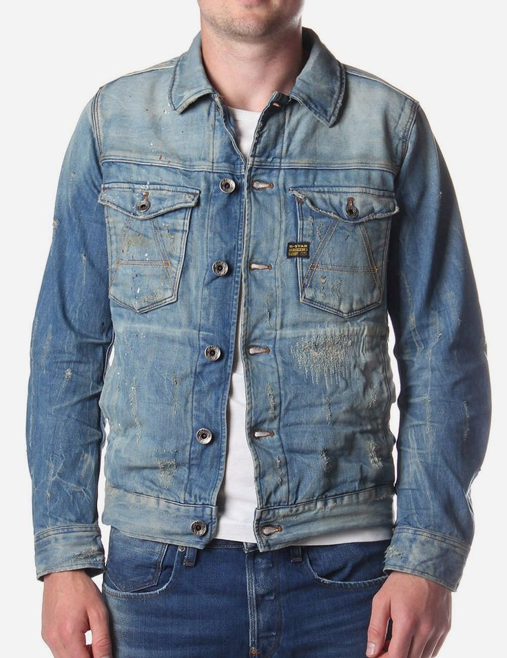 G-Star Raw A Crotch Men's Denim Jacket Denim
