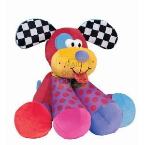 RC2 Lamaze Play and Grow Puppy Tunes  Soft loveable puppy with fun crinkly earsScented with vanillaEach paw plays a note Squeeze his paws  http://www.comparestoreprices.co.uk/educational-toys/rc2-lamaze-play-and-grow-puppy-tunes.asp
