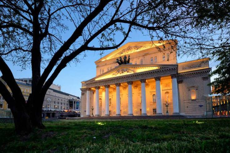 Moscow's Bolshoi Theatre at night