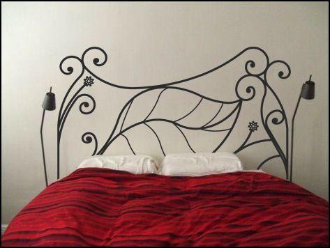 Cabecero cama con vinilo