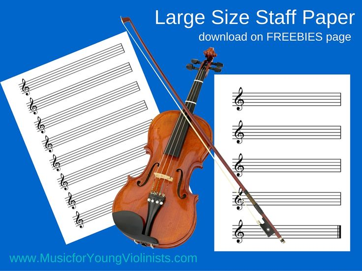 Large size staff paper with treble cleffs (free PDF) www.musicforyoungviolinists.com #ViolinMusic, #FreeSheetMusic, #FreeViolinMusic