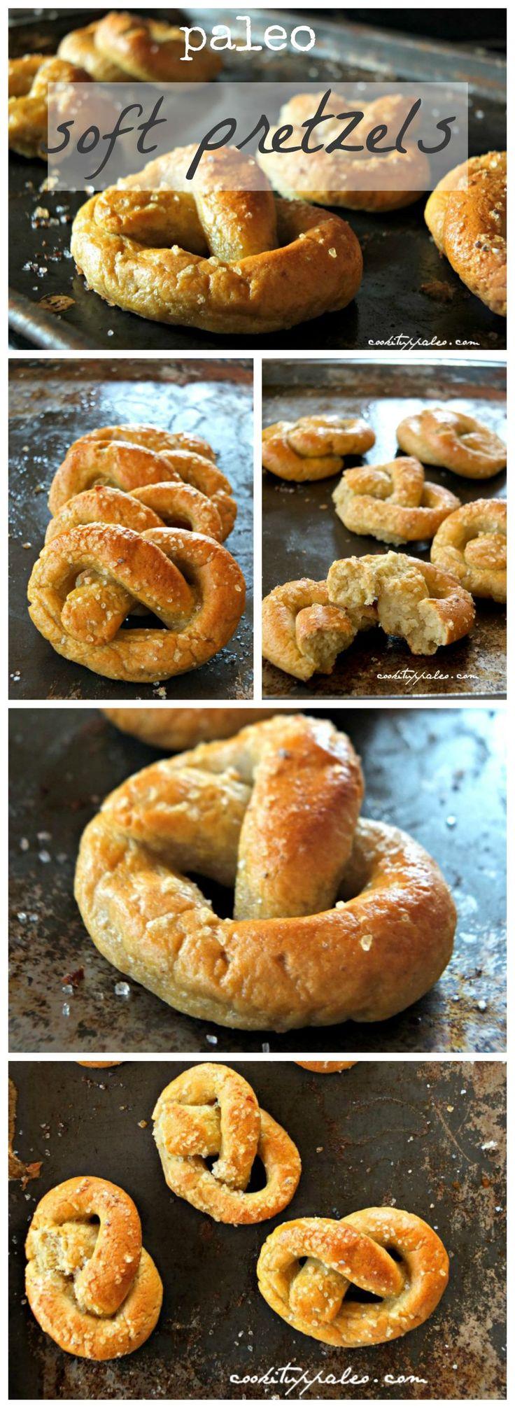 Paleo Soft Pretzels (nut-free) made with Otto's cassava flour
