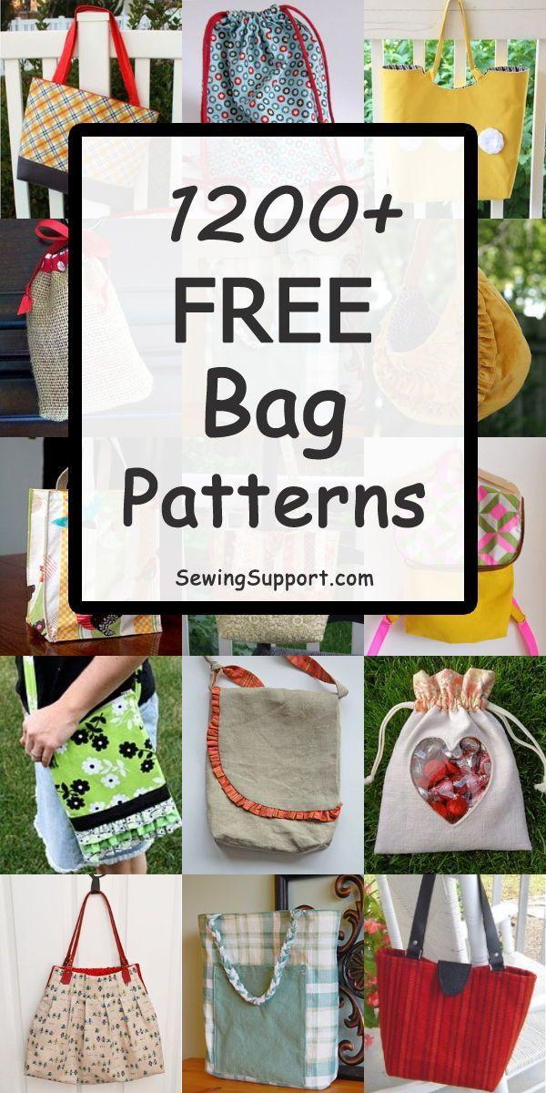 1200+ kostenlose Taschenmuster zum Nähen – Nähen / Taschen 2 – #Tasche #Taschen #Kostenlos #Muster #S …   – Nähen