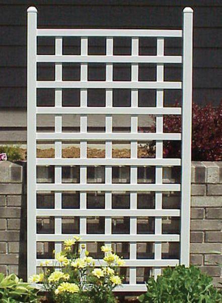 Country Garden Trellis  A Simple Trellis Design To Break Up Blank Walls  (near Garage