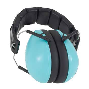 Beautiful sea-inspired 'Aqua' Protective Earmuffs from Baby Banz NZ; suit 2-10+ years; $44.50.