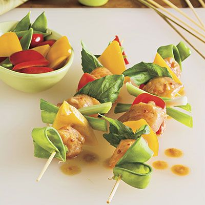 Spicy Thai Chicken Kabobs Recipes - Easy Grilled Kabobs Recipes - Southern Living