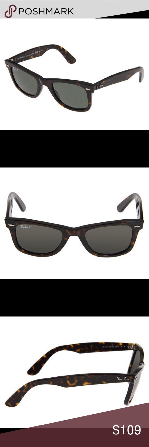Authentic Ray Ban Wayfarer Sunglasses RB2140 New Stylish Ray Ban wayfarer sunglassss in distressed Tortoise. Sure to please. Price is firm. Ray-Ban Accessories Sunglasses