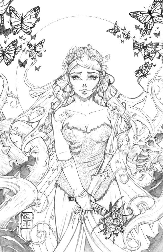 Something I started working on over Halloween. I love Tim Burton films, and Corpse Bride is one of my favourites!! I'm planning to colour this traditionally, but I want to have it a digital version...