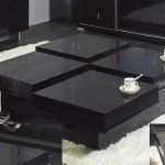 black contemporary coffee table set
