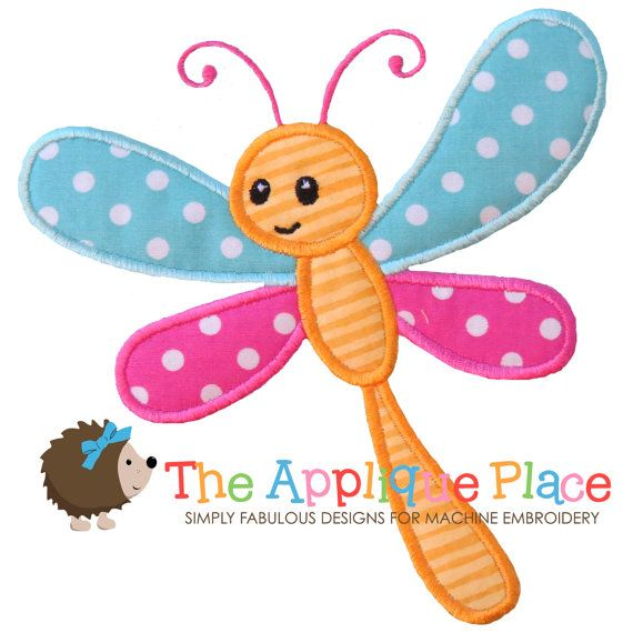 Dragonfly Machine Embroidery Applique Design by TheAppliquePlace, $4.00