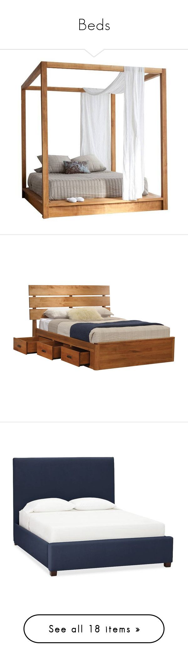 """""""Beds"""" by tiryn13leucine ❤ liked on Polyvore featuring home, furniture, beds, bed, king size canopy bed, king canopy bed, king size bed, hardware furniture, king size furniture and double storage bed"""