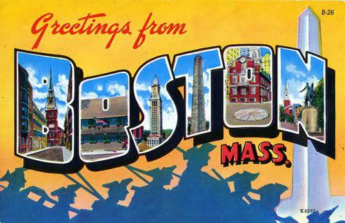 .Vintage Postcards, Places Travel, Favorite Places, Greeting Postcards, Boston Postcards, Boston Massachusetts, Beantown Bash, Beans Town, Massachusetts Postcards
