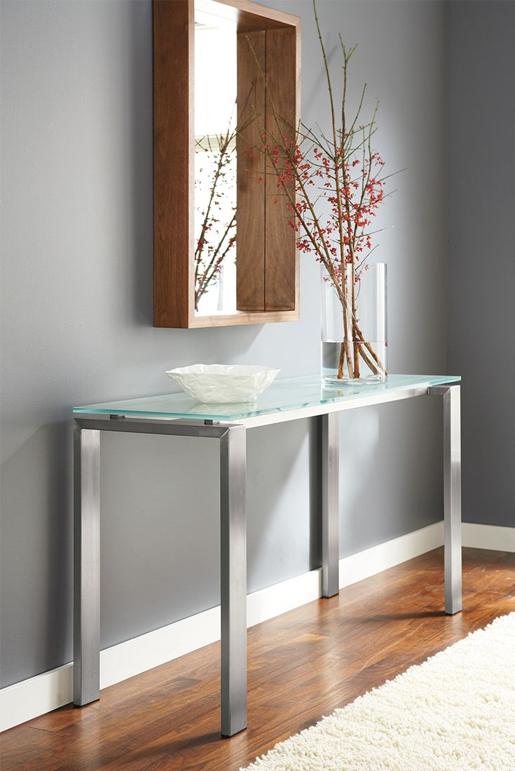 67 best images about a grand entrance entryway ideas on pinterest storage bins dining - Modern console table with mirror ...