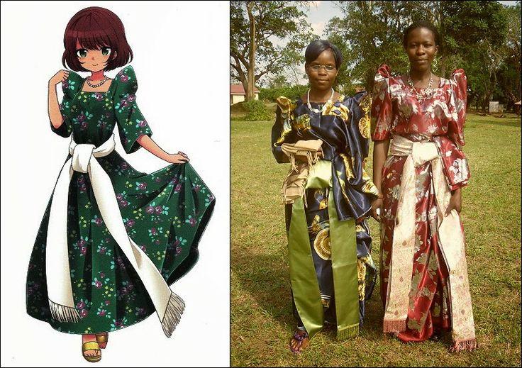 Gomesi : Ugandan Traditional Clothing | **TRADITIONAL WEAR