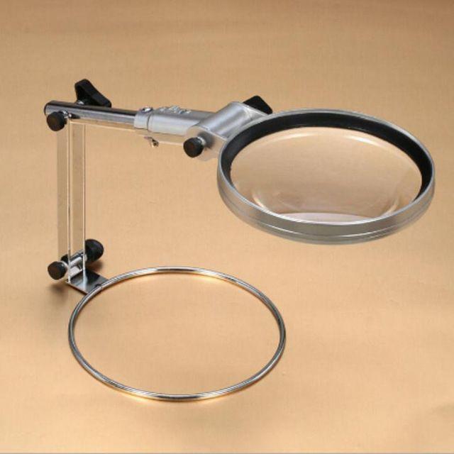 130mm grande espelho 2x Dobrável Leitura lupa lupa de Mesa Com luz LED Ajustável