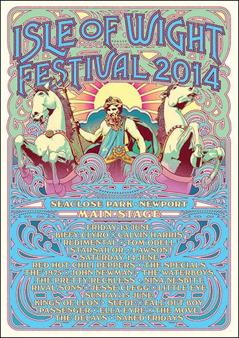 2014 Poster - Isle of Wight Festival 9th - 12th June 2016 Book On the water Luxurious Nautical Festival Accommodation - Next door to the Festival Site. Salamander will be in the Island Harbour Marina. Guests will have full use of the marina and the award winning Breeze Restaurant and Bar. Details http://www.thesalamandersailingadventure.com/isle-of-wight-festival-accommodation