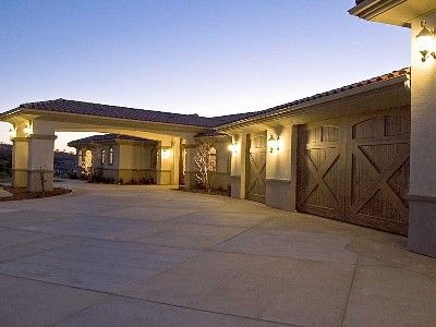 11 best covered driveways images on pinterest driveways for Drive through garage door