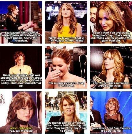 funny jennifer lawrence quotes | Jennifer Lawrence as always