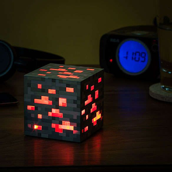 Minecraft glowing red stone block! I want this