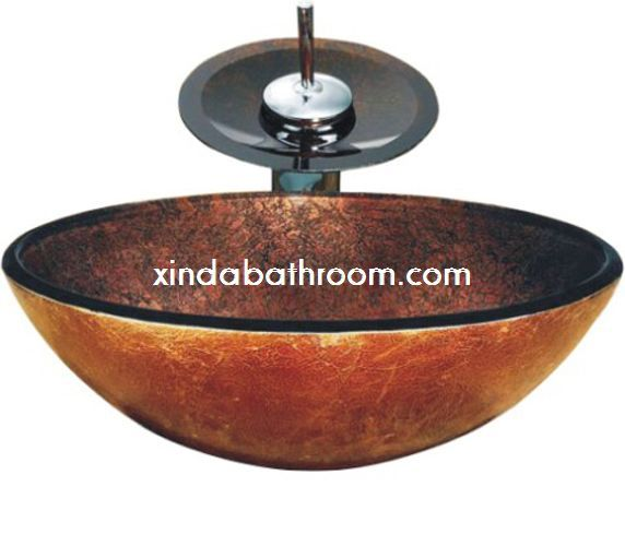 glass bowl sink vessel vanity sinks for bathrooms exploded leaking