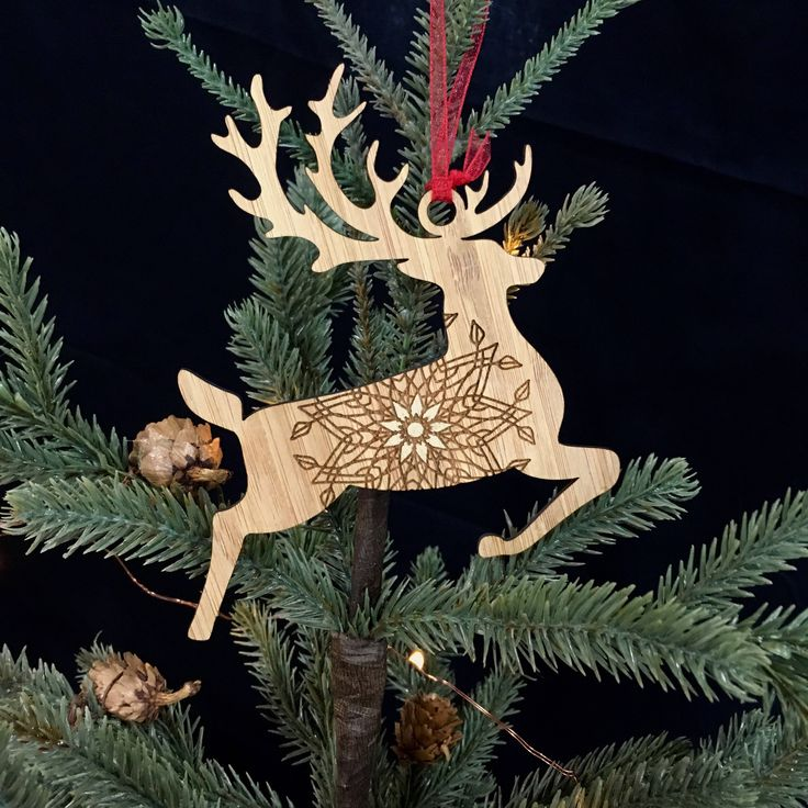A personal favorite from my Etsy shop https://www.etsy.com/listing/561046992/painted-gold-stag-bamboo-ornament