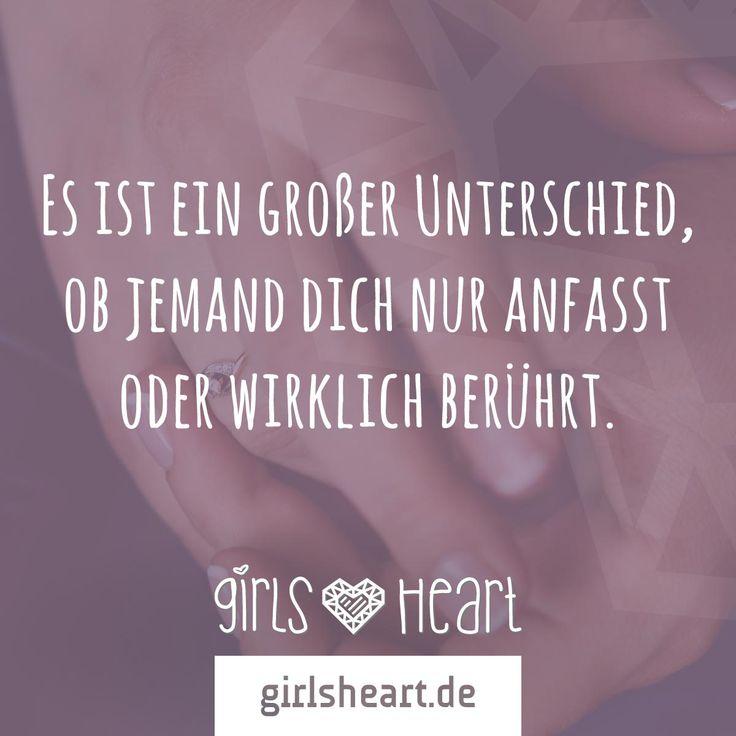 Mehr Sprüche auf: www.girlsheart.de #zärtlichkeit #berührung #liebe #seele