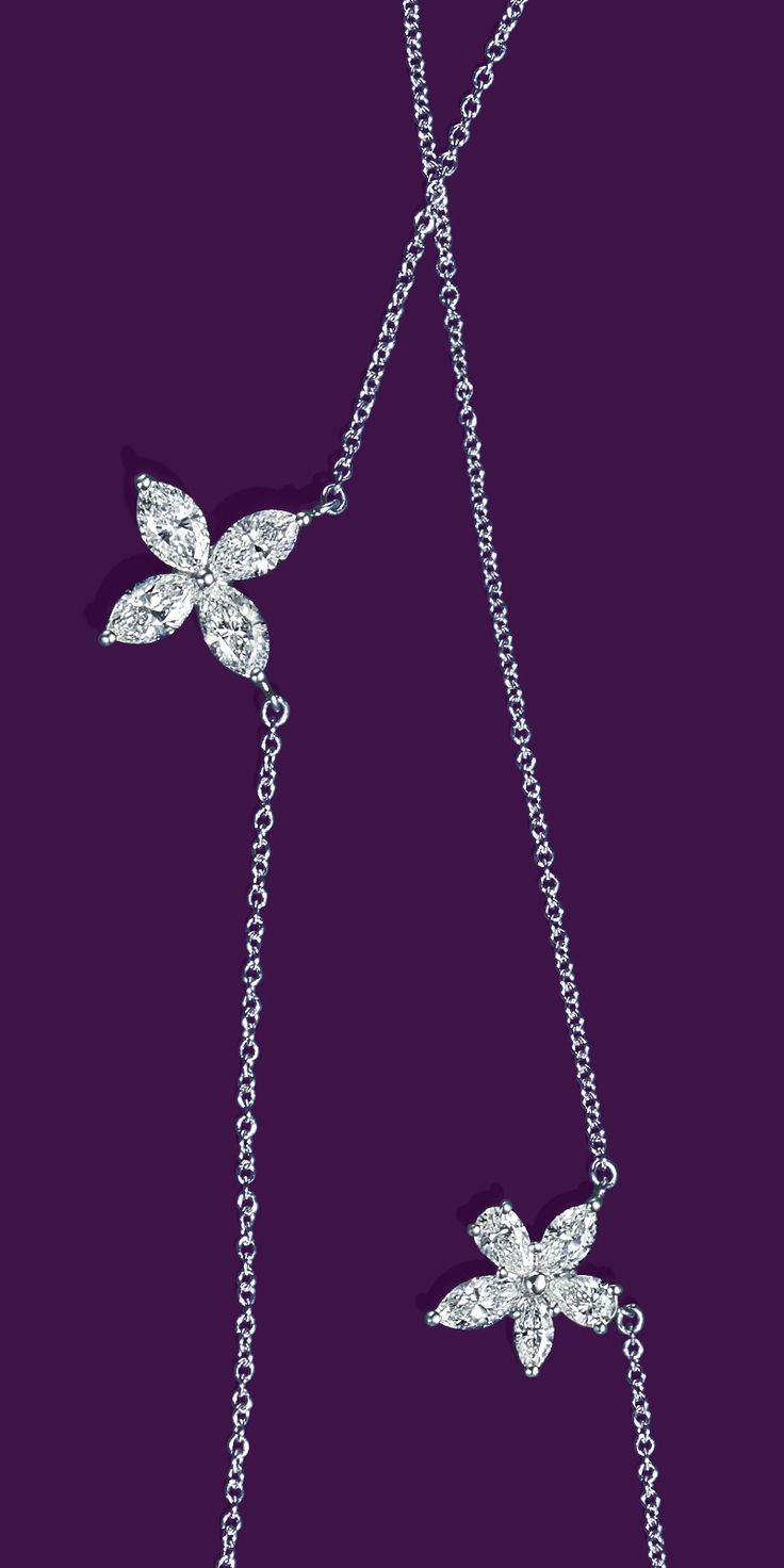 Platinum and diamond pendants from the Tiffany Victoria® collection are sure to put stars in her eyes.