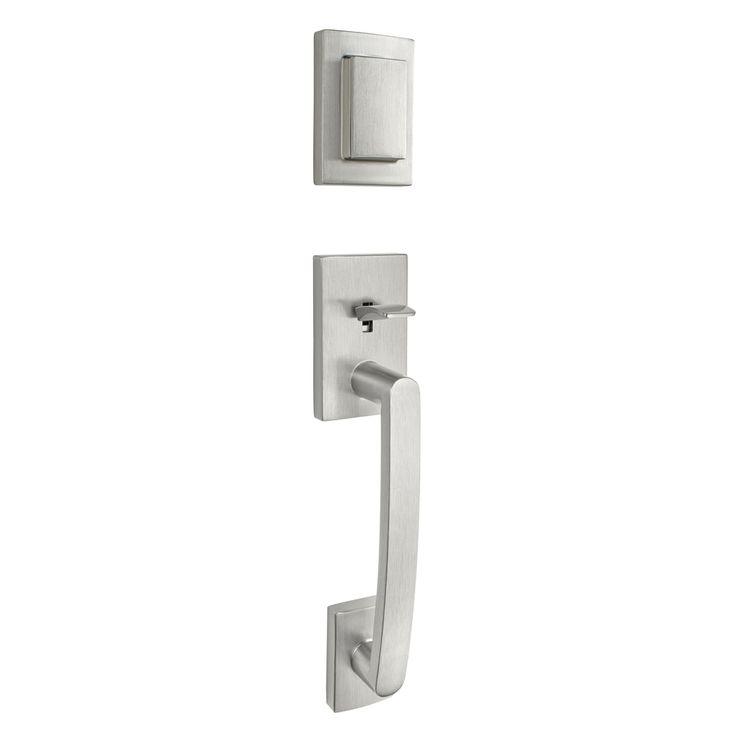 BALDWIN Spyglass Smartkey Satin Nickel Single-Lock Keyed Entry Door Handleset