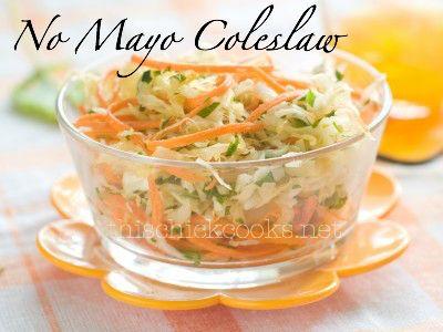 No mayo coleslaw, Coleslaw and Cole slaw on Pinterest