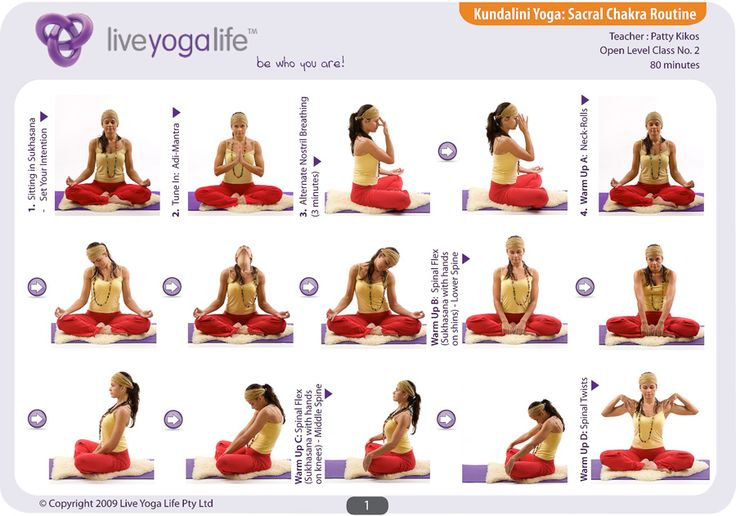 Kundalini Yoga Chakra Program - SACRAL CHAKRA ROUTINE - loved and pinned by www.omved.com