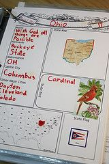 The Fifty States of America is a popular notebooking topic. It can be the basis of a unit study, or it can be a supplement to your American history curriculum. When you're finished, you have a wonderful, homemade reference book, filled with facts and memorabilia about the states of America. Here you will find free printables, books, ideas for what to put in the notebook, and supplementary activities.