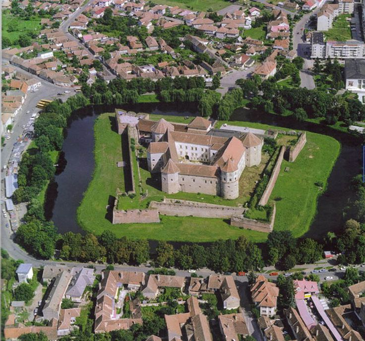 Fagaras castle - a star fort with moat in Romania