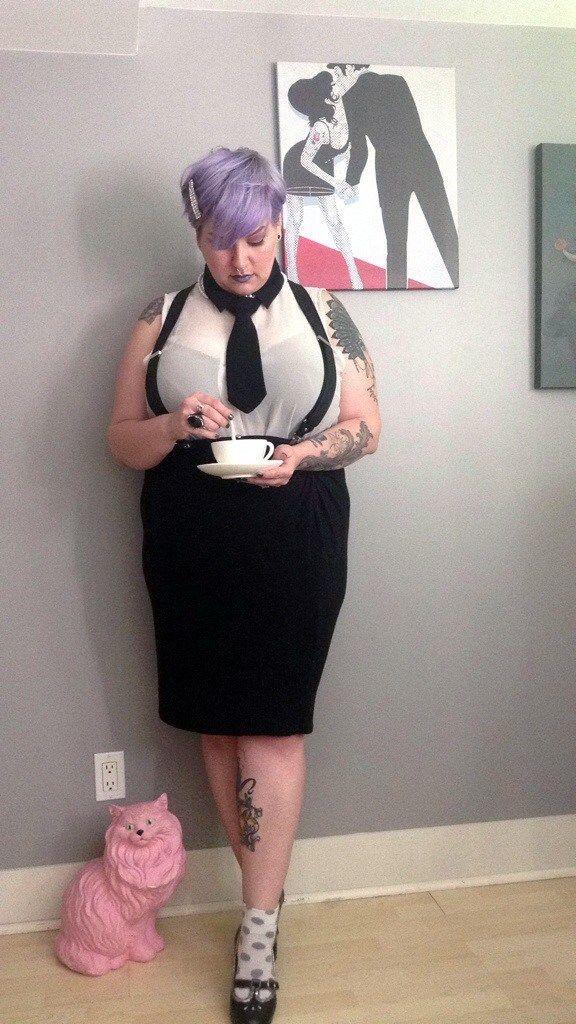 tea & Coco | Margot Meanie analternative plus size fashion blog