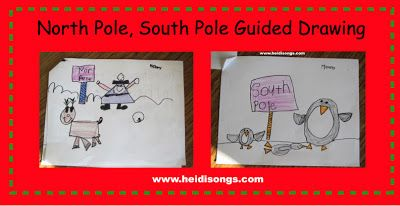 North Pole, South Pole Guided Drawing | Heidi Songs