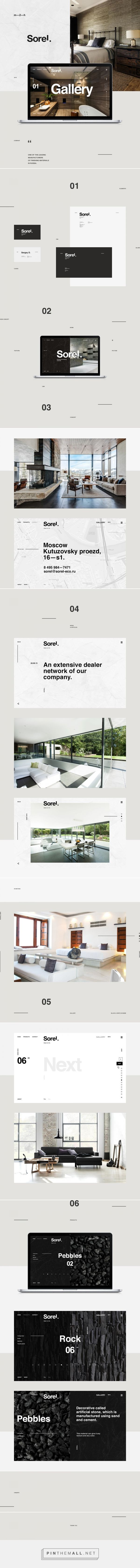 #web #fullscreen #modern Sorel on Behance