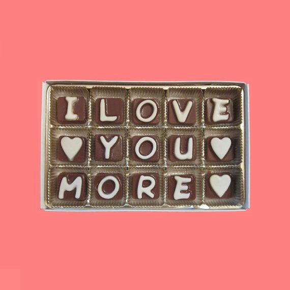 6 Month Anniversary Gift for Boyfriend 6th Month Half Year Anniversary Gift for Him Mens Gift from Girlfriend Gift I Love You More Chocolate