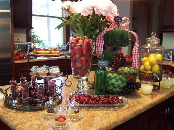 Lovely Buffet Using Lots Of Glass
